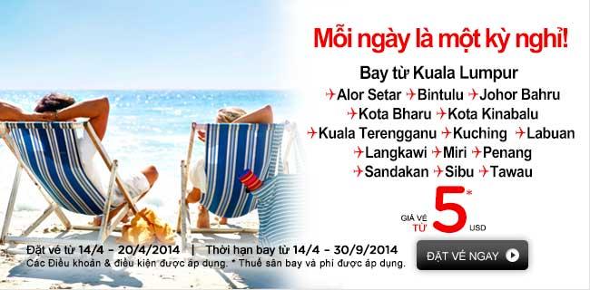 Vui hè Malaysia với giá vé chỉ từ 5 USD