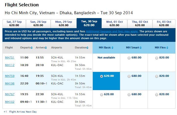 Vé máy bay Hồ Chí Minh đi Bangladesh