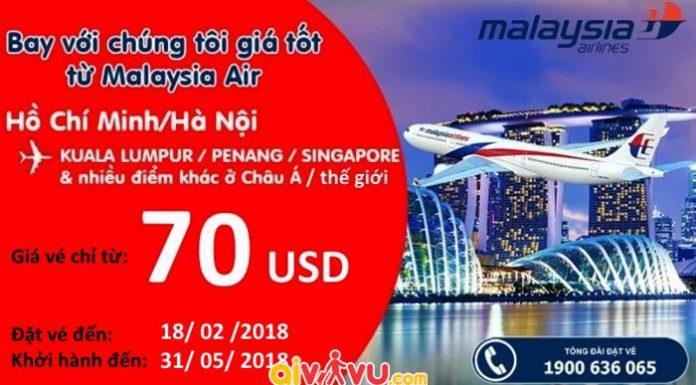 Malaysia khuyến mại giá vé chỉ từ 70 USD