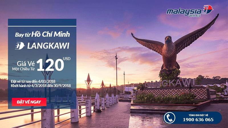 Cùng Malaysia Airlines bay đến Langkawi chỉ từ 120 USD