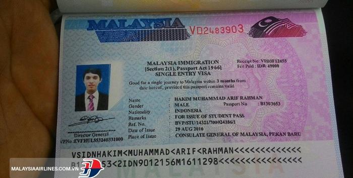 Xin visa đi Malaysia